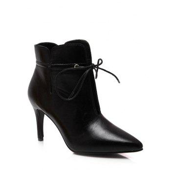 Stiletto Heel Pointed Toe Tip Up Boots