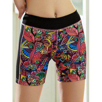 Tropical Print Quick Dry Sporty Shorts