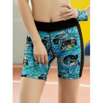 Leaf Print Quick Dry Sporty Shorts