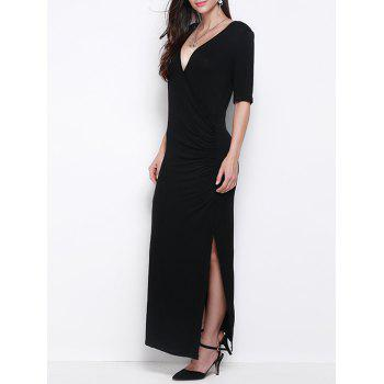 Slimming Half Sleeves Side Slit Dress