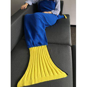 Warmth Crocheted Knitted Fish Tail Shape Blanket