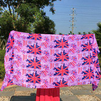 Sunscreen Union Flag and Star Pattern Long Scarf
