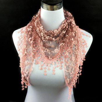 Sunscreen Wintersweet Embroidery Tassel Triangle Scarf