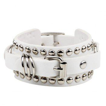 Rivet Faux Leather Bracelet