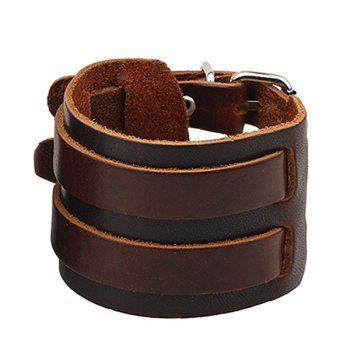 Faux Leather Wide Bracelet