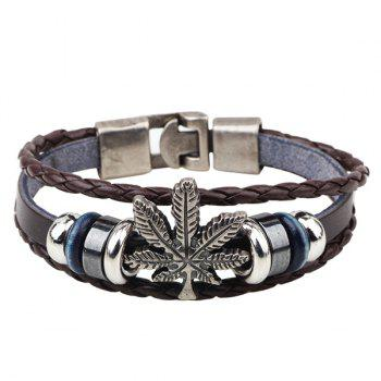 Bracelet en cuir Maple Leaf Faux
