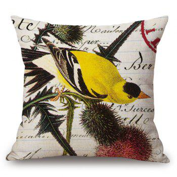 Home Decor Printing Bird Plant Design Sofa Pillow Case