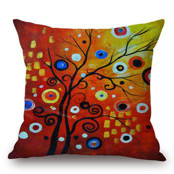 High Quality Colorful Tree Painting Pattern Pillow Case