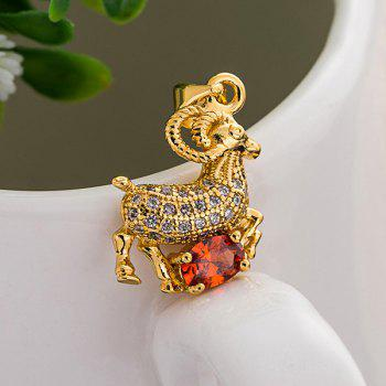 Sheep Rhinestone Pendant - GOLDEN GOLDEN