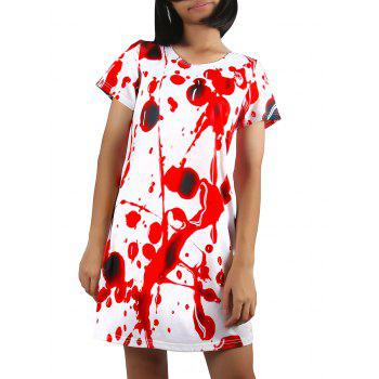 Blood Print Mini Dress