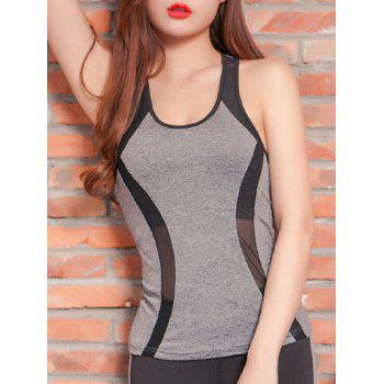 Mesh Spliced Racerback Padded Running Vest