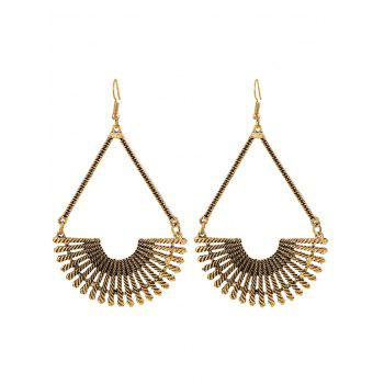 Alloy Fan-Shaped Hollow Out Drop Earrings