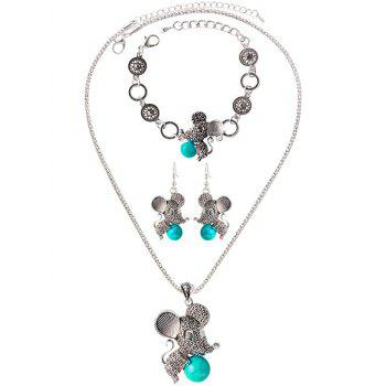 Faux Rammel Mouse Ball Jewelry Set