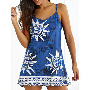Tribal Print Tie-Dyed Summer Dress