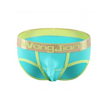 Color Splicing Trimmed Elastic Waist Briefs