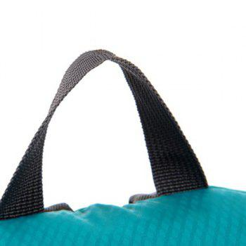 Nylon Cross Straps Zippers Backpack - Lac Vert