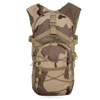 Camouflage Print Mesh Spliced Backpack