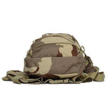 Camouflage Print Mesh Spliced Backpack - THREE SAND CAMOUFLAGE