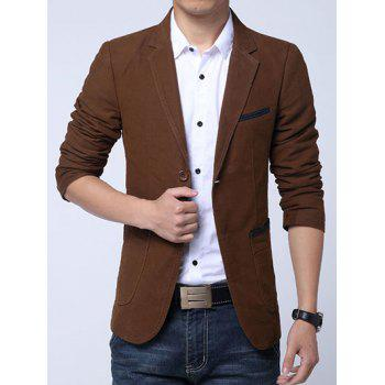 Slim Fit Pockets Lapel Insert Blazer