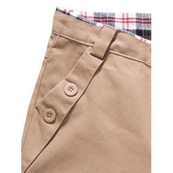 Zipper Fly Button Embellished Straight Leg Pants - ARMY GREEN ARMY GREEN