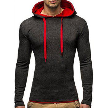 Long Sleeve Hooded Slimming T-Shirt