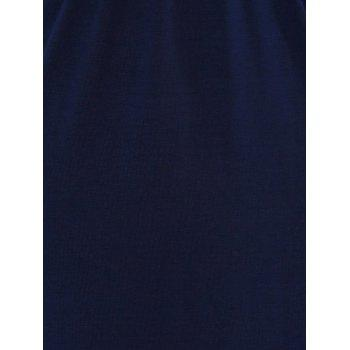 Side Slit High Waist Maxi Dress - CADETBLUE CADETBLUE