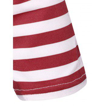 Striped Plissé A Dress Ligne - Rouge et Blanc M