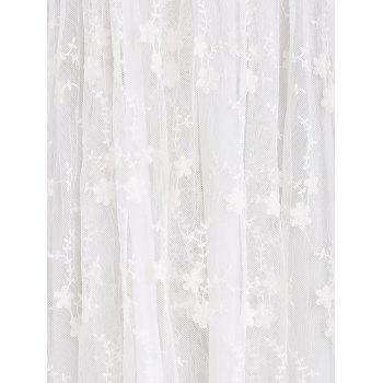 Robe Guipure Mesh Party Laciness - Blanc S