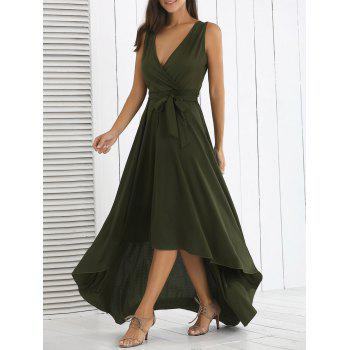 High Waist Irregular Maxi Formal Swing Dress