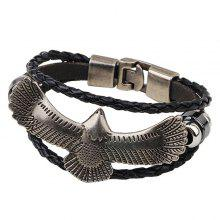 Eagle Faux Leather Bracelet