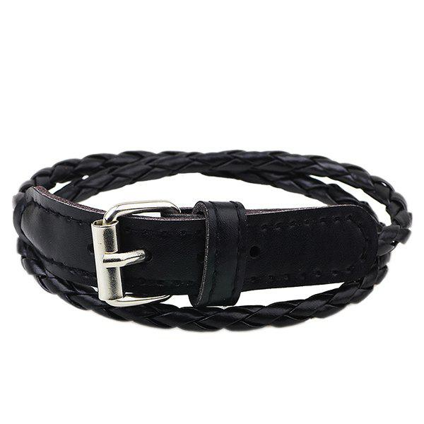Faux Leather Woven Bracelet