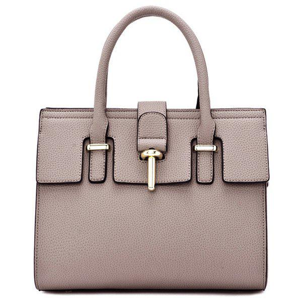Graceful Metal and PU Leather Design Women's Totes