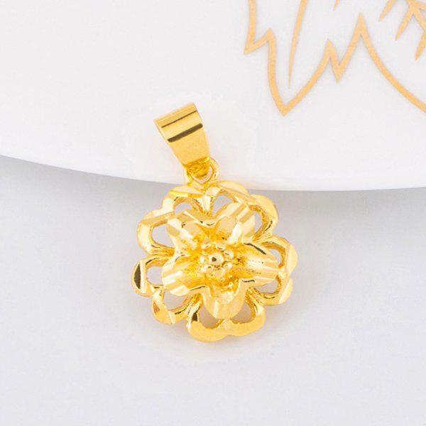 Floral Cut Out Pendant - GOLDEN