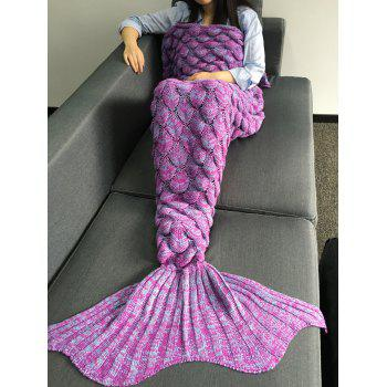 Warmth Crochet Knitting Fish Scales Design Mermaid Tail Style Blanket