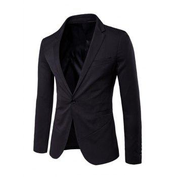 Sleeve Buttons Design Lapel Spliced Single Breasted Blazer