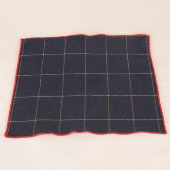 A Set of Gingham Pattern Tie Pocket Square Bow Tie - CADETBLUE