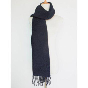 Casual Pleated Tassel Long Scarf - PURPLISH BLUE
