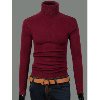 Turtleneck Long Sleeve Ribbed Sweater