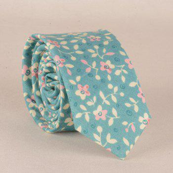 A Set of Flowers Leaves Pattern Tie Pocket Square Bow Tie - LIGHT BLUE