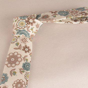 A Set of Flowers Painted Tie Pocket Square Bow Tie - COFFEE