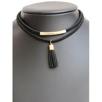 Tasseled Layered Choker Necklace