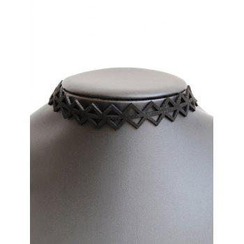 Hollowed Triangle Choker Necklace