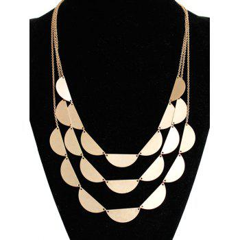 Layered Semicircle Sweater Chain - GOLDEN GOLDEN