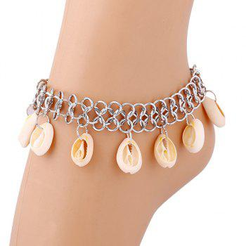 Shell Fringed Beach Anklets - SILVER SILVER