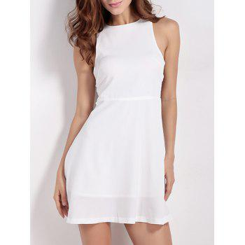 Back Zip Up Cut Out Sleeveless Dress