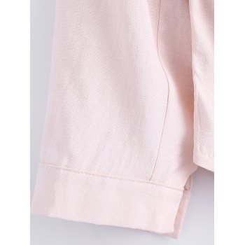 Double Pockets Asymmetric Shirt - PINK PINK