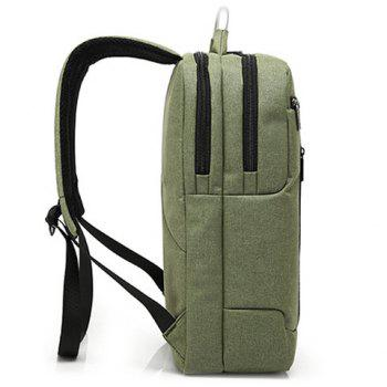 Letter Nylon 14 Inch Laptop Backpack -  ARMY GREEN