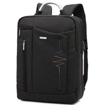 Letter Nylon 14 Inch Laptop Backpack
