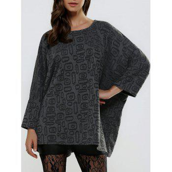 Jacquard Textured Loose-Fitting Knitwear