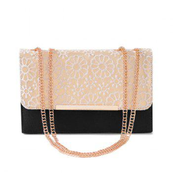 Lace Chains Color Block Crossbody Bag